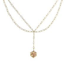Load image into Gallery viewer, Morning Star, double chain necklace