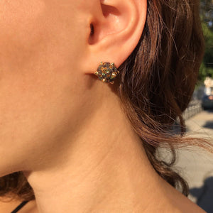 Morning Star, black, ear studs