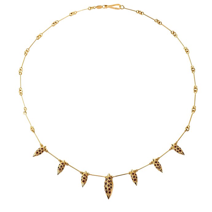 Grain  chain necklace