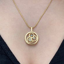 Load image into Gallery viewer, Swirl double sided pendant