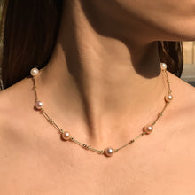 Load image into Gallery viewer, Pearl chain necklace