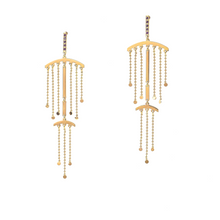 Load image into Gallery viewer, Double fringe, chandelier earrings