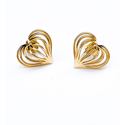 See through my heart, ear studs