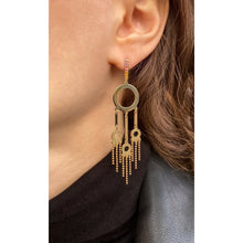 Load image into Gallery viewer, 'Dream catcher', chandelier earrings