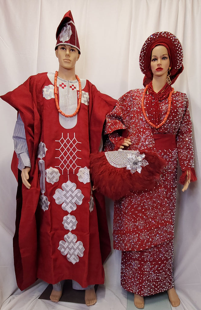 AFRICAN TRADITION OUT FIT  COMPLETE  SET ASO OKE BRIDAL OUTFIT