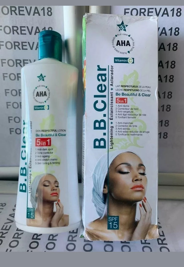 B.B CLEAR WHITENING BODY LOTION 5 in 1