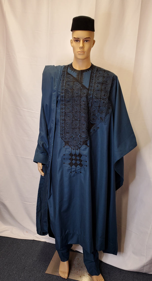 AGBADA 4 PIECES COMPLETE SET TRADITIONAL OUTFITS FOR MEN'S CLOTHING
