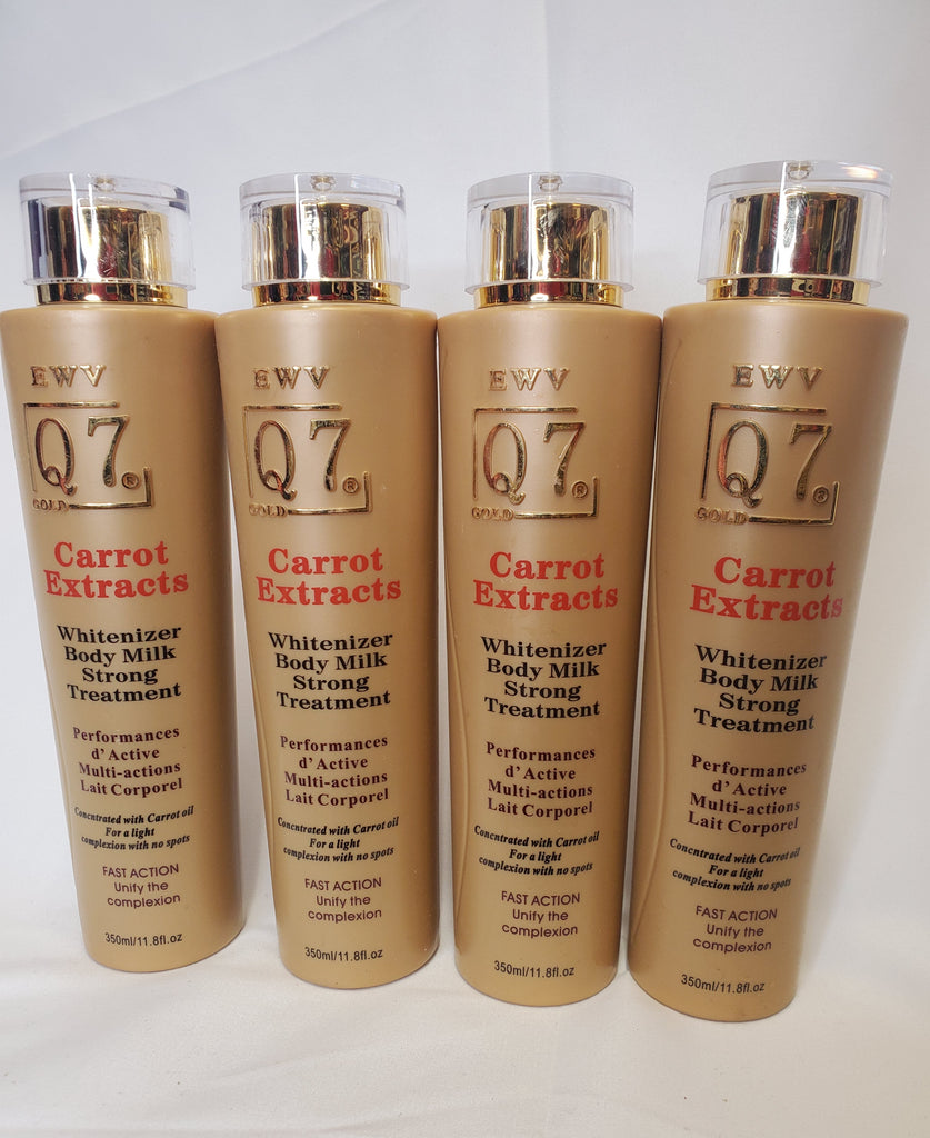 Q7 CARROT EXTRACT WHITENING BODY MILK STRONG TREATMENT  MULTI ACTION