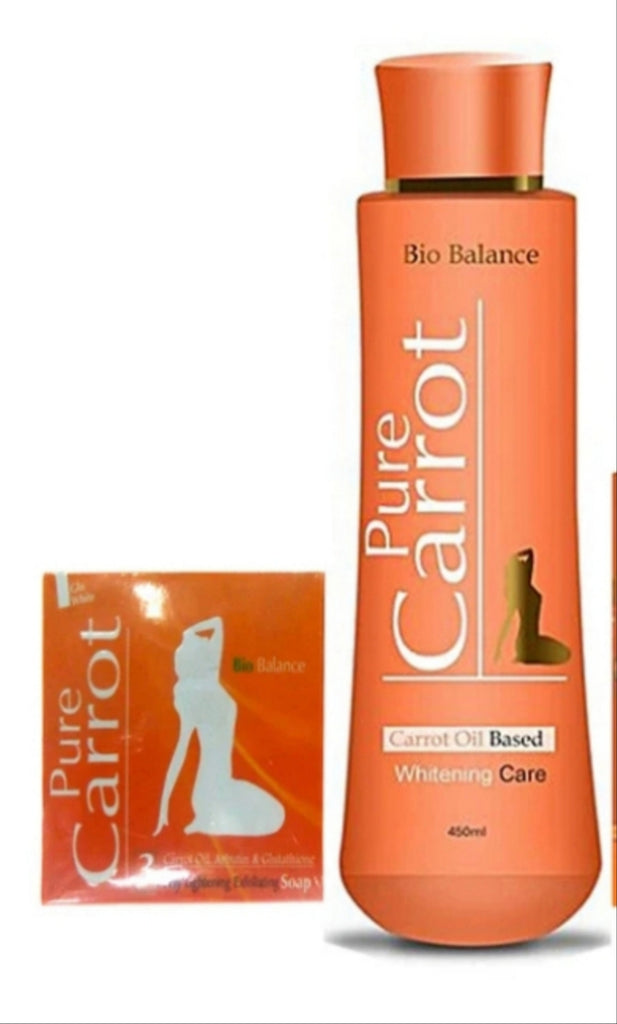 PURE CARROT OIL BASED WHITENING CARE LOTION + SOAP
