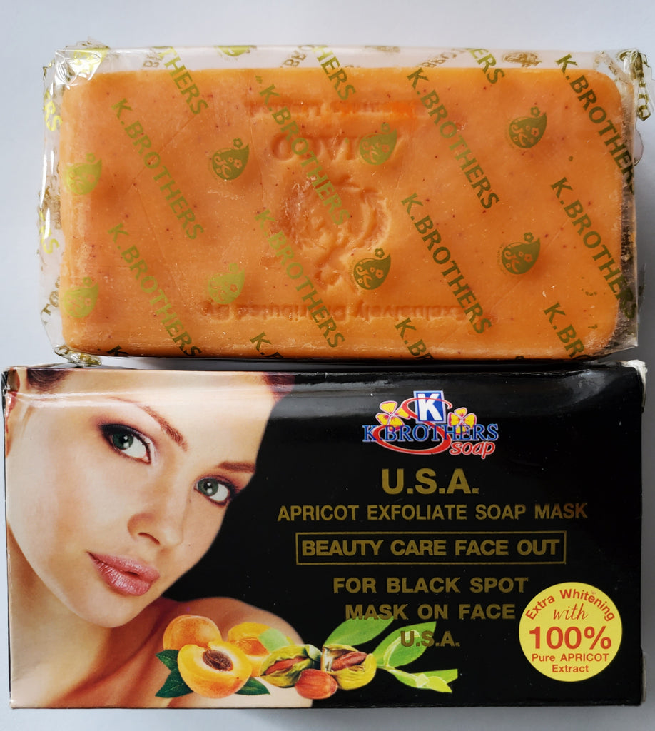 K.BROTHERS USA APRICOT EXFOLIATE SOAP MASK FOR BLACK SPOT MASK ON FACE