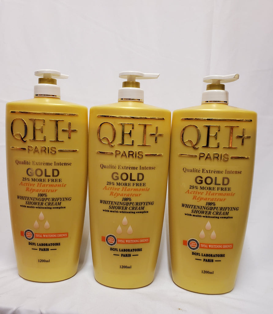 QEI + PARIS QUALITY EXTREME INTENSE GOLD WHITENING  PURIFYING SHOWER CREAM