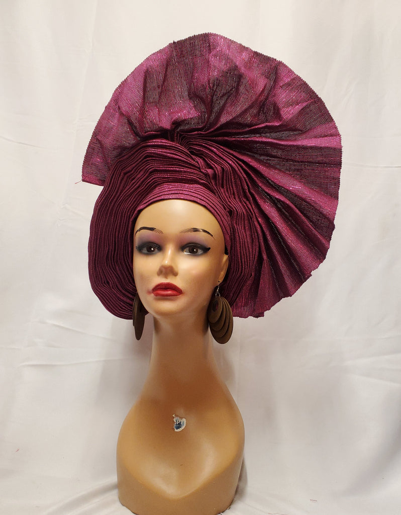 BEAUTIFUL MAGENTA READY-MADE HEADTIE