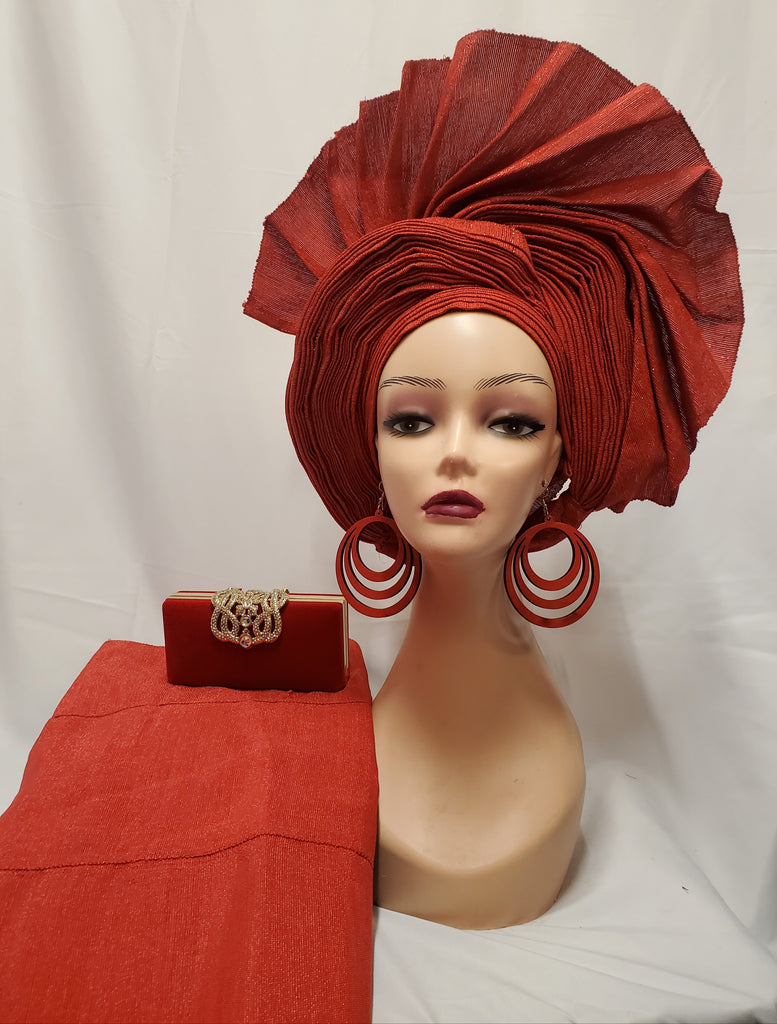UNIQUE &CLASSIC READY-MADE HEADTIE ASO OKE