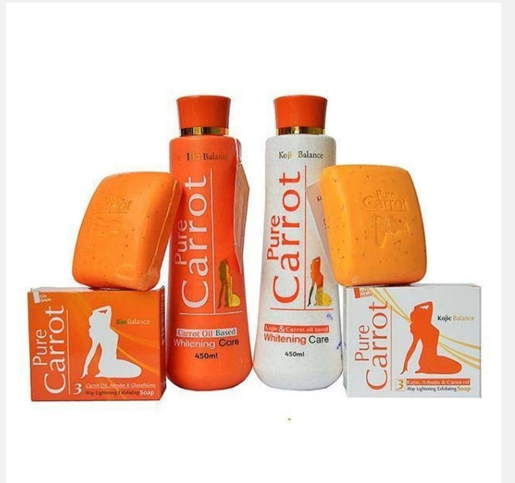 PURE CARROT OIL BASE WHITENING BODY LOTION +SOAP