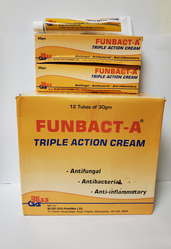 Funbact-A Triple Action Tube Cream 30g
