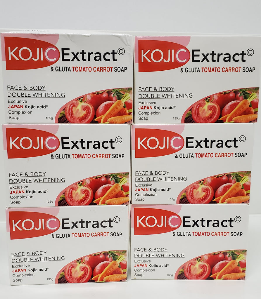 KOJIC EXTRACT ANDGLUTA TOMATO CARROT  SOAP FACE & BODY DOUBLE WHITENING