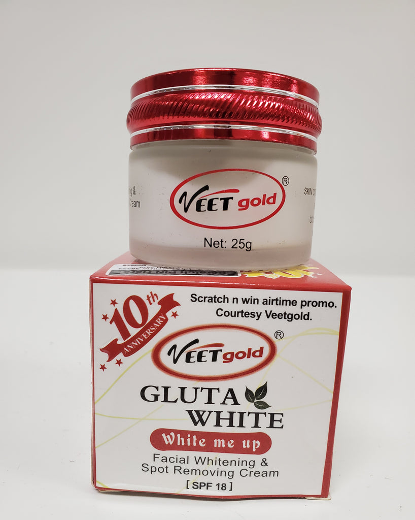 VEETGOLD GLUTA WHITE WHITE ME UP FACIAL WHITENING & SPOT REMOVING CREAM