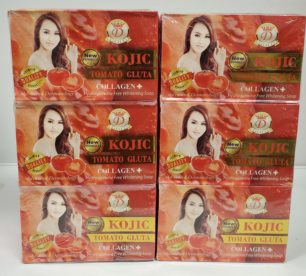 12 PACKS  KOJIC TOMATO GLUTA COLLAGEN 7DAYS WHITENING SOAP