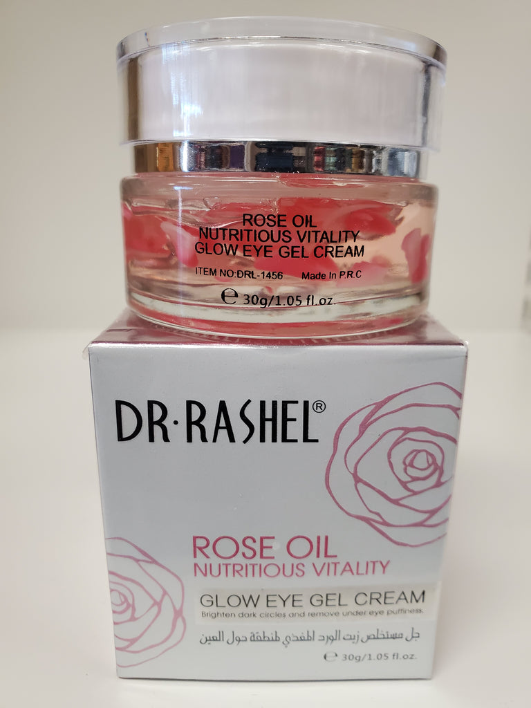 DR RASHEL ROSE OIL NUTRITION VITALITY GLOW EYE GEL CREAM