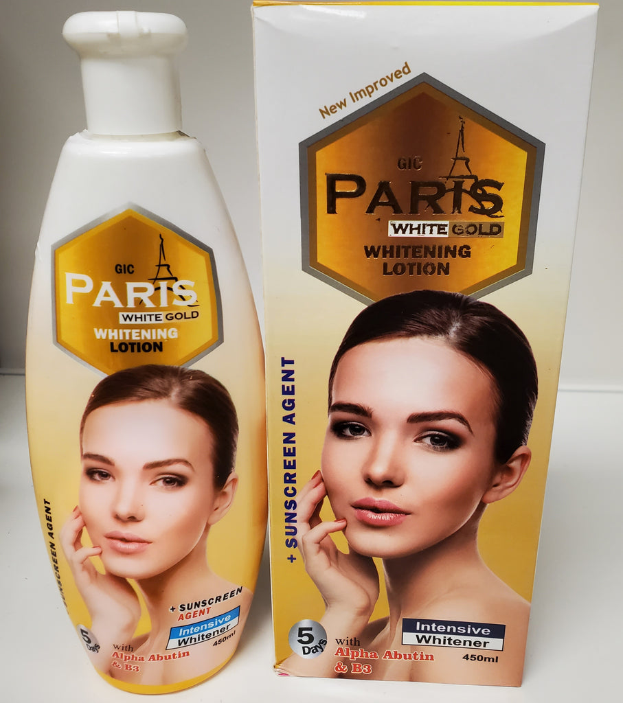 PARIS WHITE GOLD WHITENING LOTION WITH ALPHA ABUTIN & B3