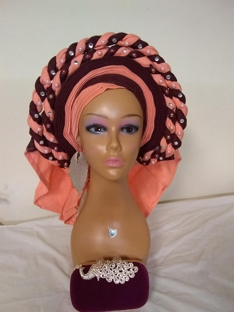 AUTO GELE READY TO TIE HEADTIE ASO OKE