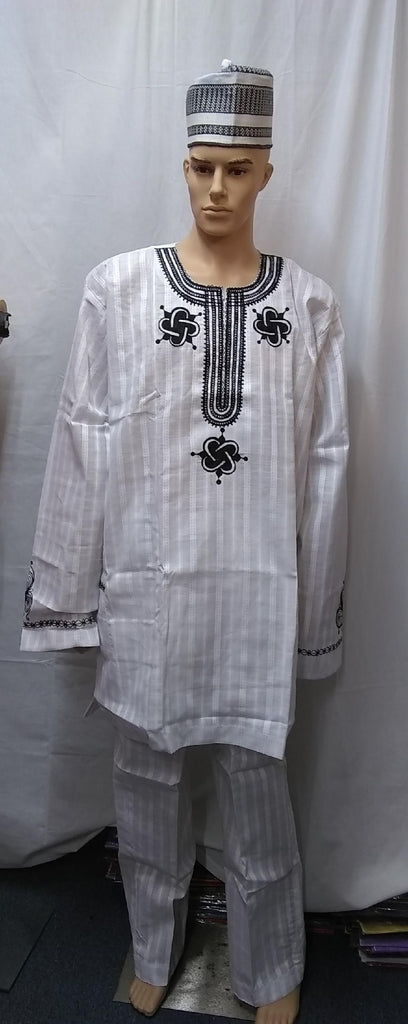 AFRICAN MEN'S COMPLETE  SET OF OUTFIT 2 PIC MEN'S CLOTHING