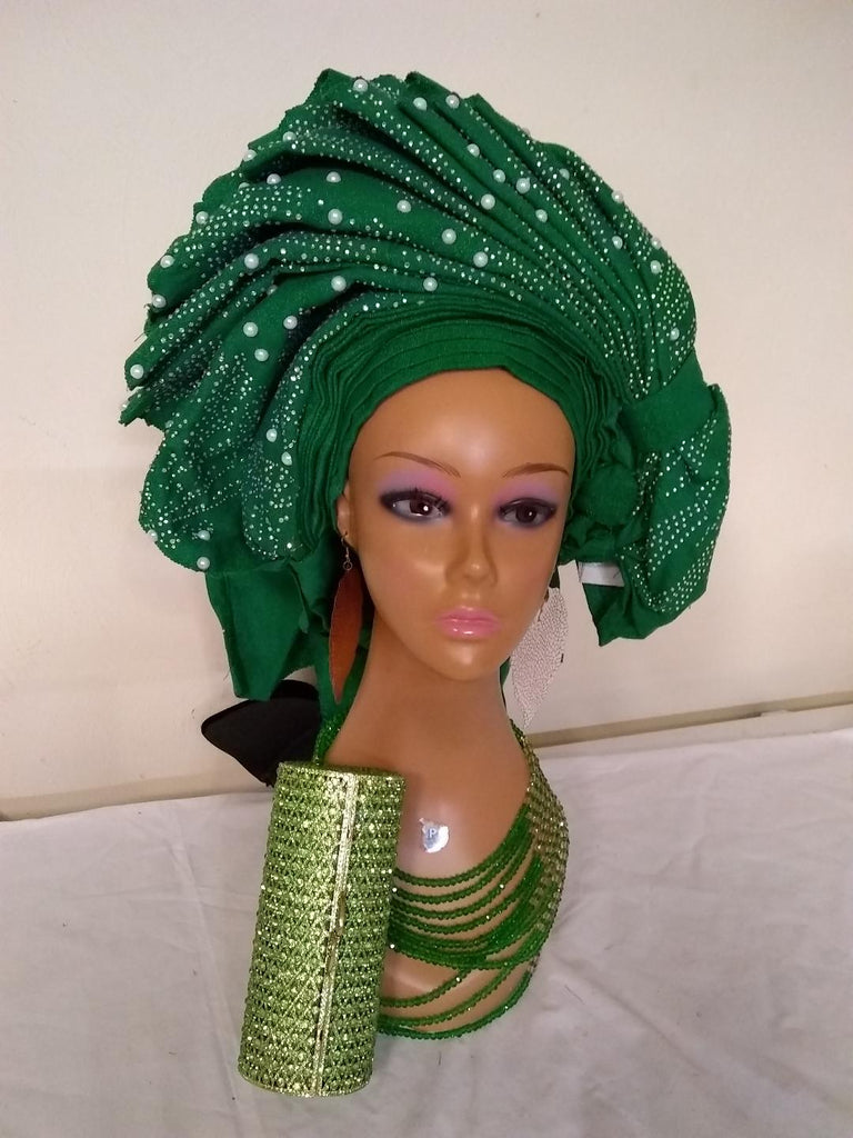 GREEN HEADTIE AUTO GELE