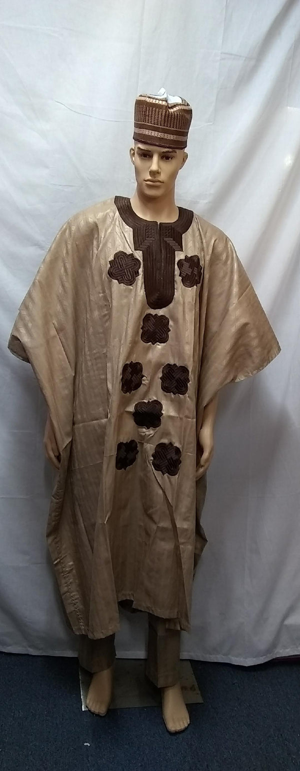 DANSHIKI AFRICAN TRADITIONAL MEN COMPLETE SET OUTFIT MADE WITH HIGH QUALITY FABRIC - Ladybee Swiss Lace