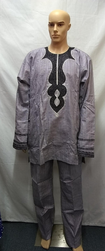 AFRICAN TRADITIONAL MEN COMPLETE SET OUTFIT MADE WITH HIGH QUALITY FABRIC - Ladybee Swiss Lace