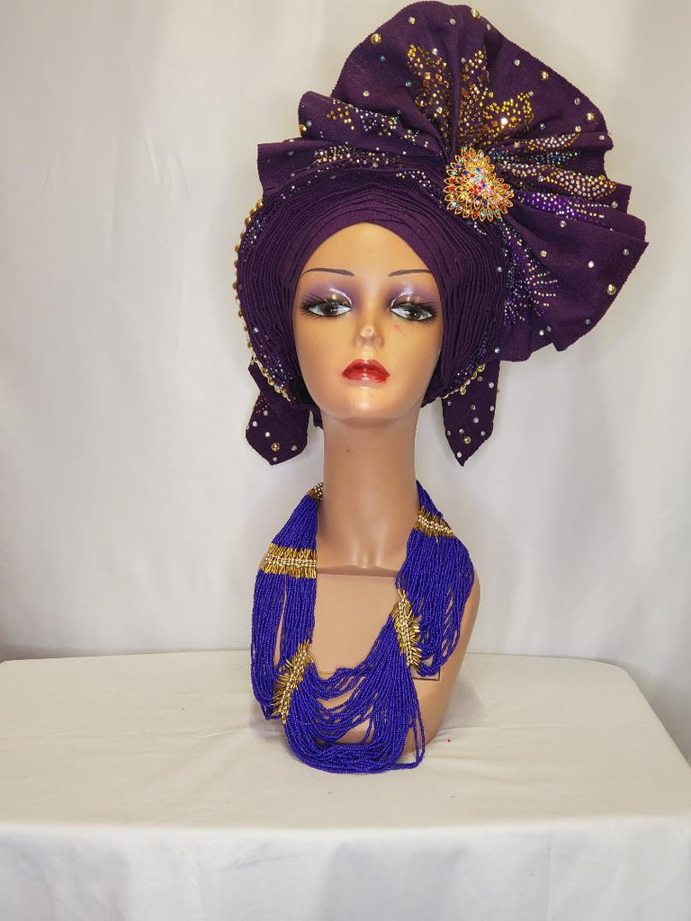 OWAMBE PURPLE HEADTIE