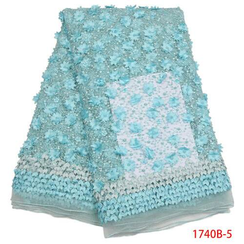 Elegant Luxurious Handmade  soft  Beautiful lace fabric with Classic Flowers - Ladybee Swiss Lace