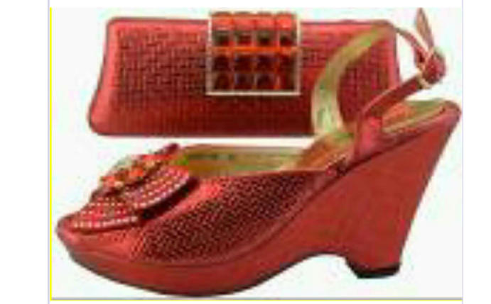 Shoes & Bag Red - Ladybee Swiss Lace