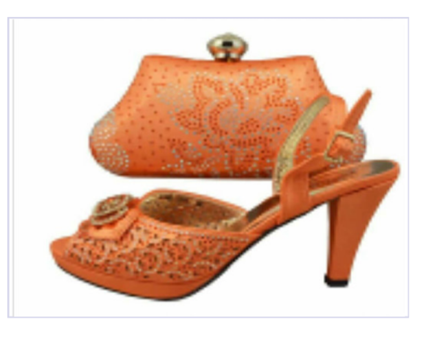 Orange Shoes Set - Ladybee Swiss Lace