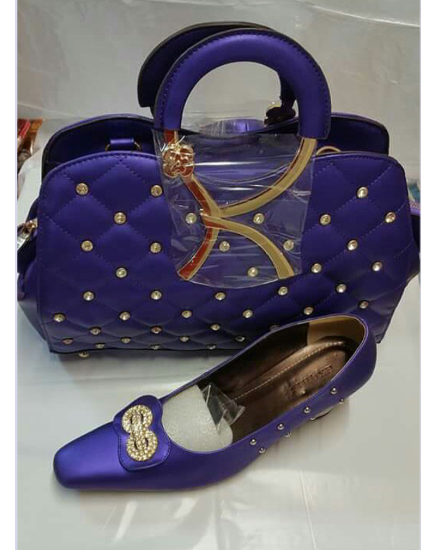 Classy Purple Shoes Set - Ladybee Swiss Lace
