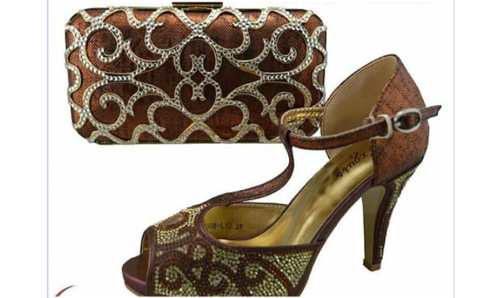 Brown Shoes Set - Ladybee Swiss Lace