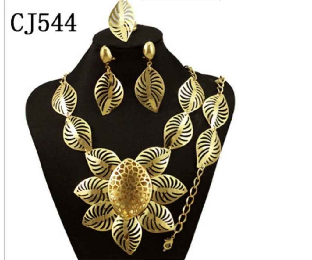 Women fashion gold plated jewelry set