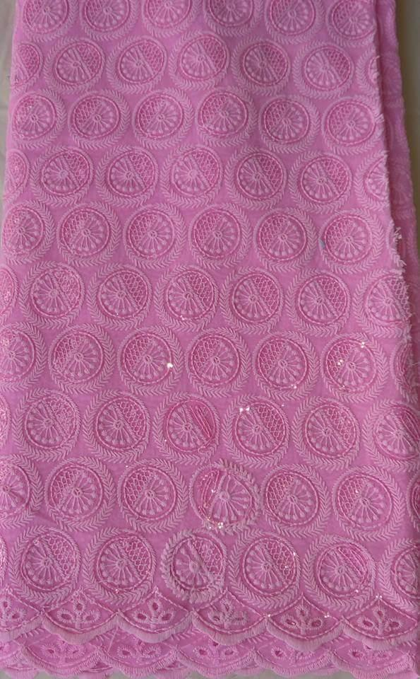 Soft Baby Pink Fabric - Ladybee Swiss Lace