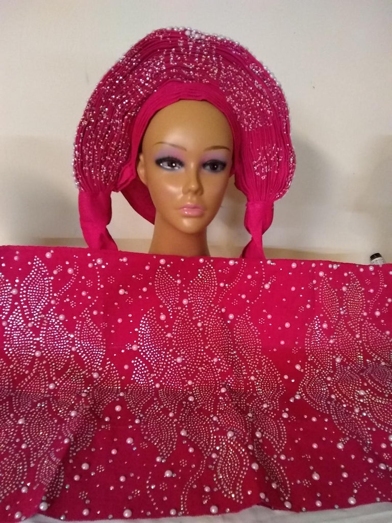 FACIAL PINK COLOR AUTO GELE & IPELE - Ladybee Swiss Lace