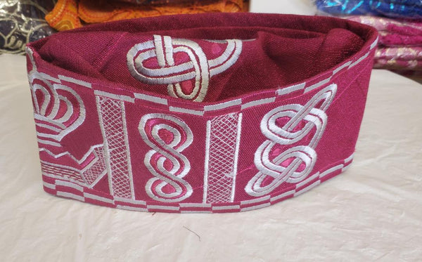 TRADITIONAL MEN CAP/ FILA MAGENTA NATIVE WEAR
