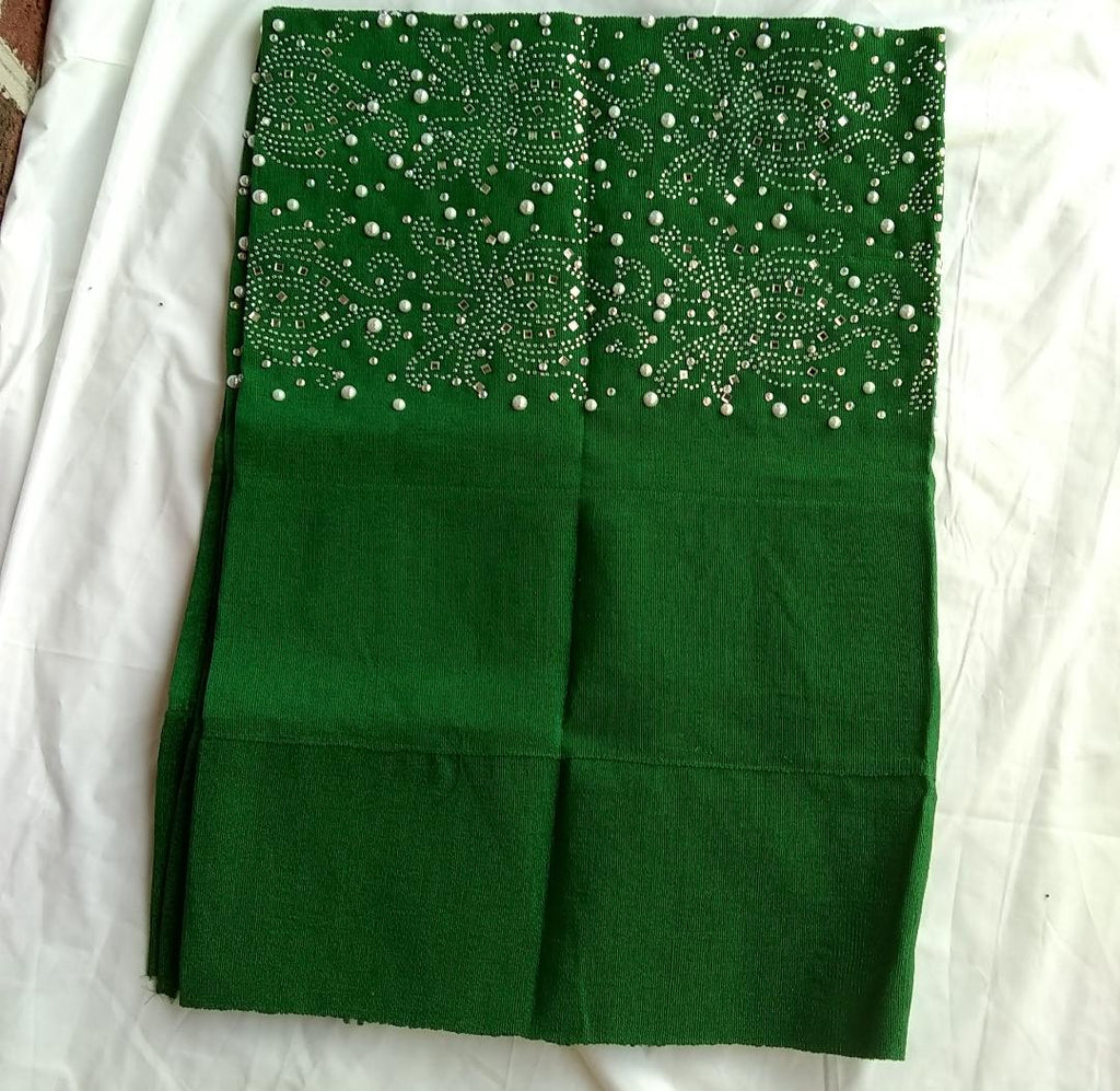 GREEN GELE HEAD TIE - Ladybee Swiss Lace