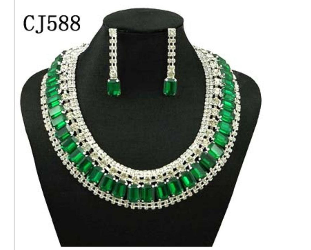 Green Jewelry Set - Ladybee Swiss Lace
