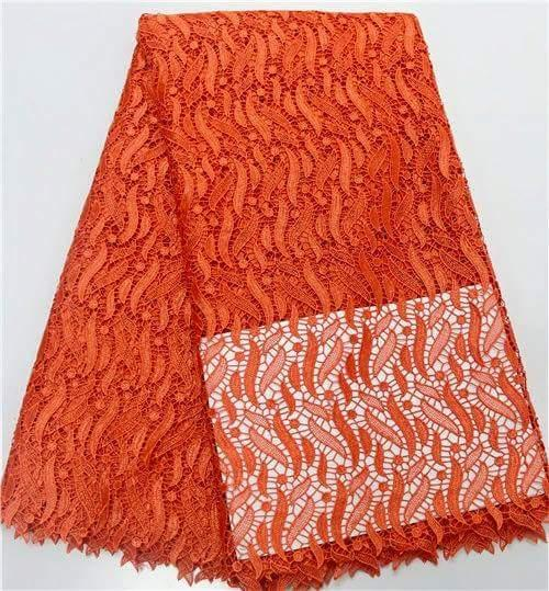 Orange African Cord Lace - Ladybee Swiss Lace