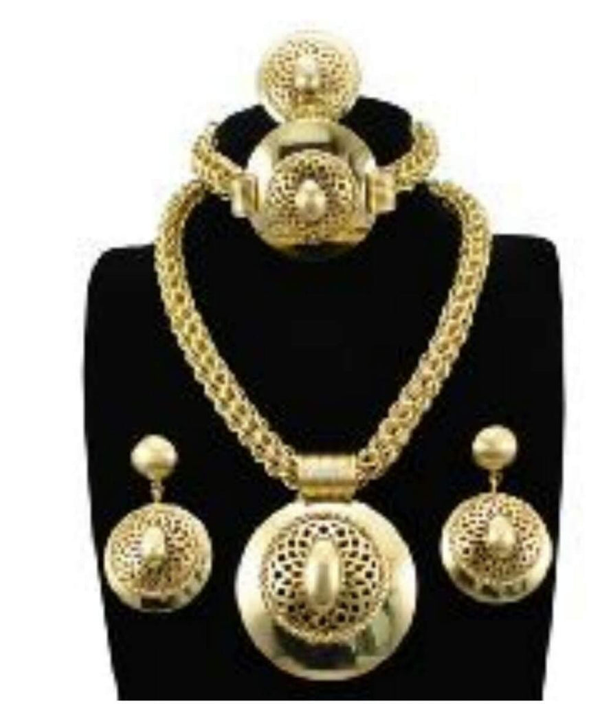 Complete Gold Set Jewelry Set - Ladybee Swiss Lace
