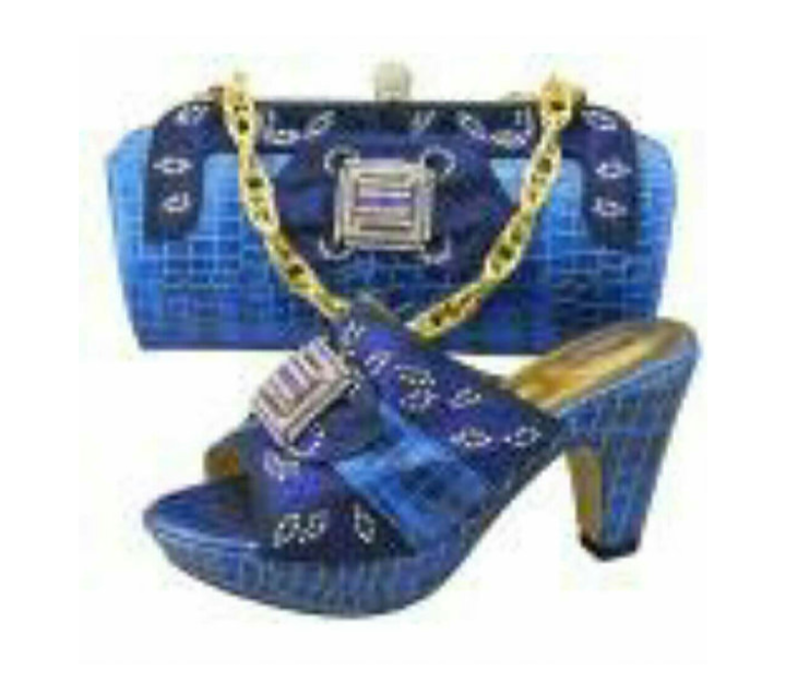 Shoes & Bags Set Royal Blue - Ladybee Swiss Lace