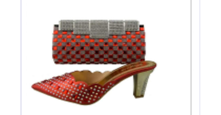 Red Stones Shoes & Bag - Ladybee Swiss Lace