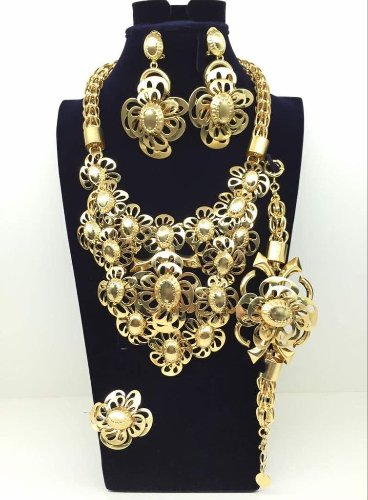 African Party Complete Jewelry set - Ladybee Swiss Lace