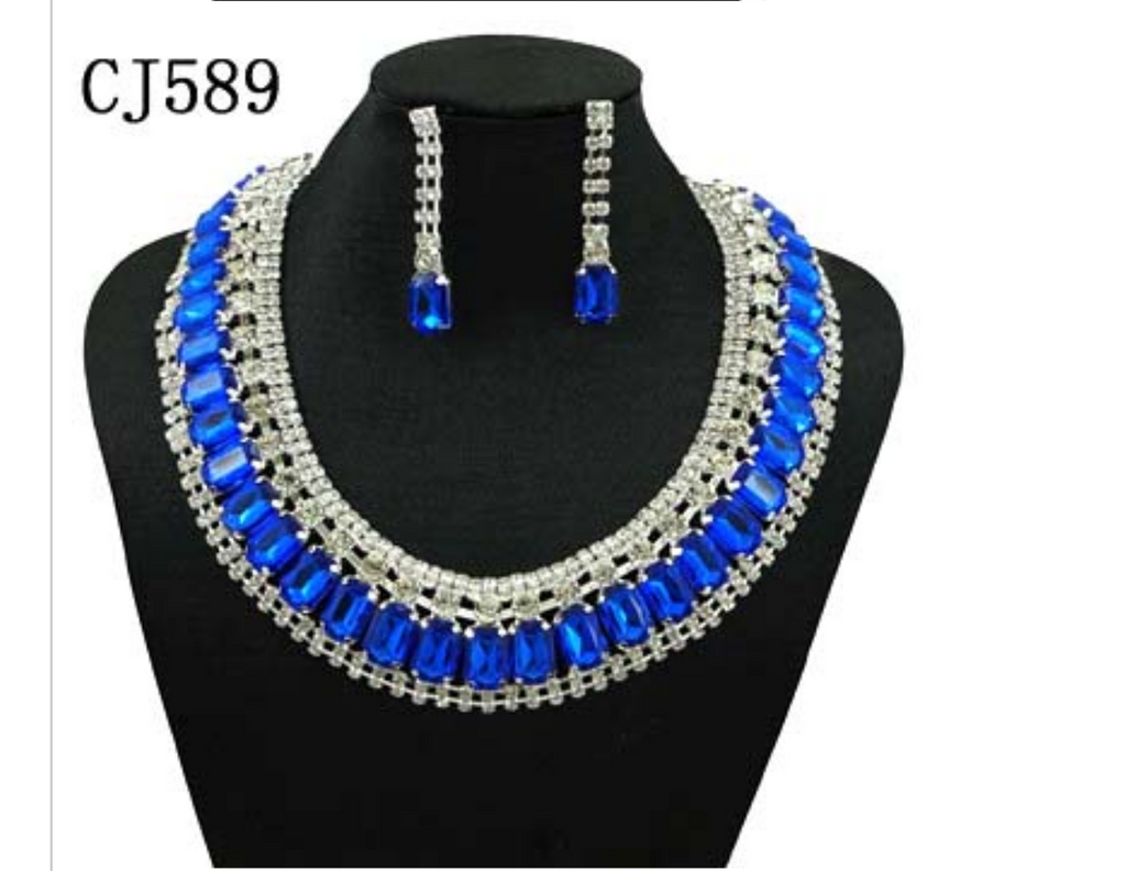 Royal Blue Women's Jewelry Set