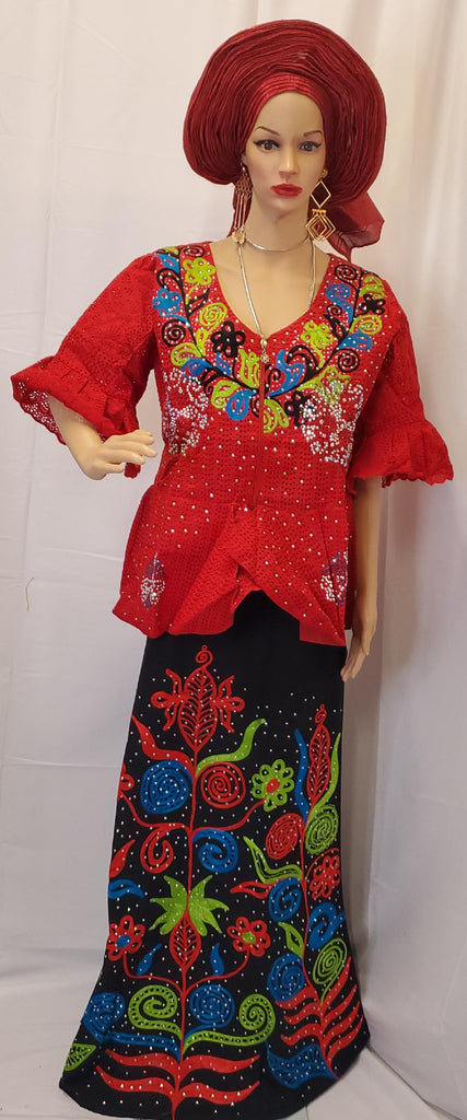 BLOUSE LACE  WITH SKIRT