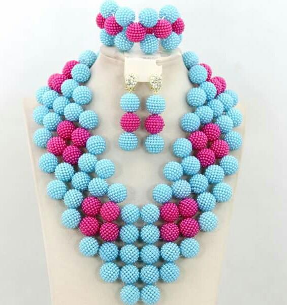 Ball Beads Jewelry Set - Ladybee Swiss Lace