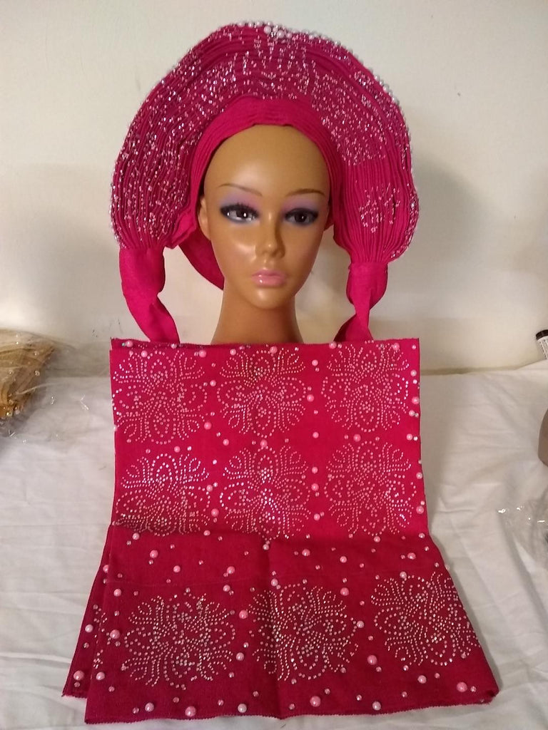 FULLY STONES & BEAUTIFUL AUTO GELE & IPELE - Ladybee Swiss Lace